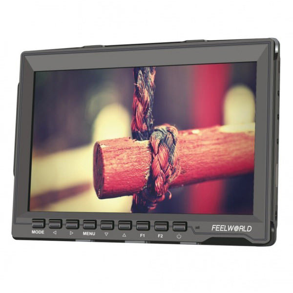 "Feelworld FW-759 Field Monitor 7"" HD with Battery - Broadcast Lighting"