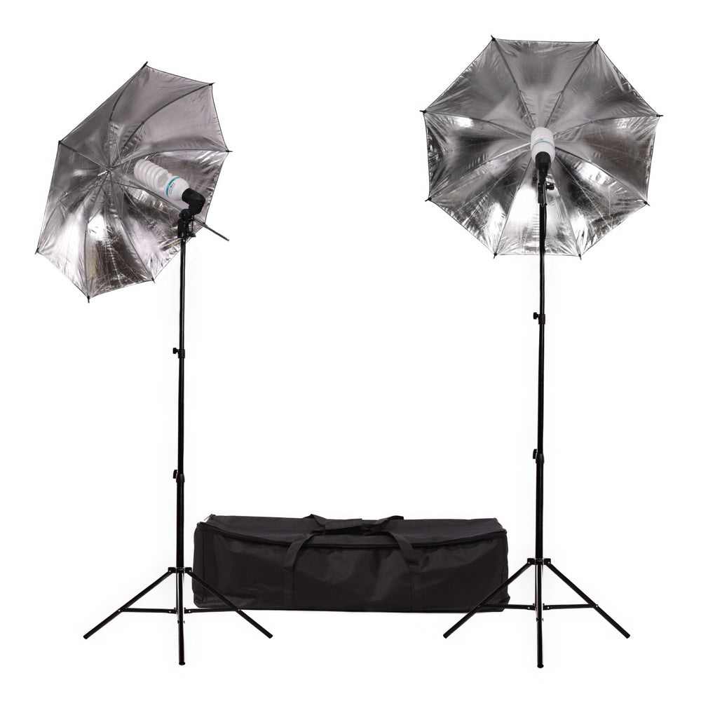Fluorescent 170W Umbrella Single Head Light Kit - Broadcast Lighting