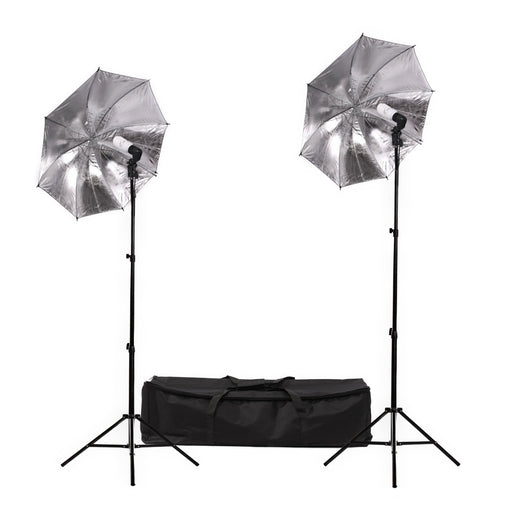 Fluorescent 90W Umbrella Single Head Light Kit - Broadcast Lighting