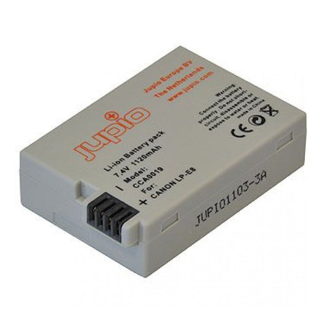 Jupio 1120mAh Battery for Canon LP-E8 - Broadcast Lighting