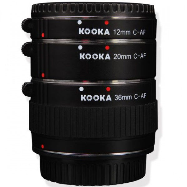 Kooka AF Extension tube set for Canon (12mm,20mm,36mm) - Broadcast Lighting