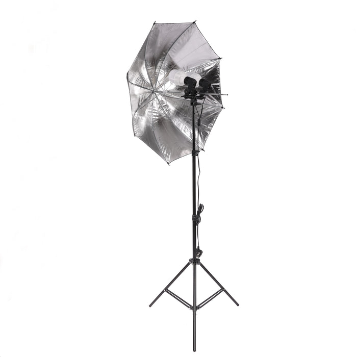 320W LED Umbrella Dual Head Light Kit - Broadcast Lighting