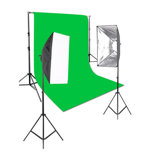 Arklite LED Enthusiast Lighting & Backdrop kit (Green) - Broadcast Lighting