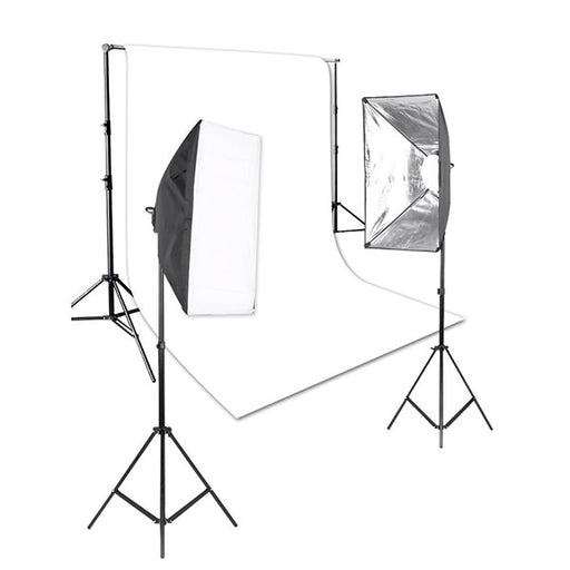Arklite LED Enthusiast Lighting & Backdrop kit (White) - Broadcast Lighting