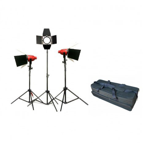 LED Red Head Lighting Kit with Dimmers - Broadcast Lighting