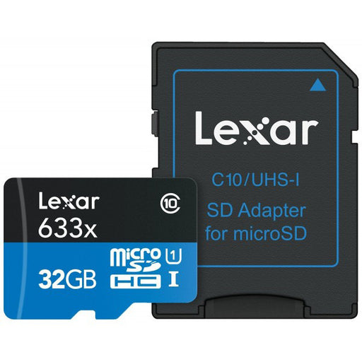 Lexar 32GB microSDHC 633x 95MB/s UHS-I Memory Card - Broadcast Lighting