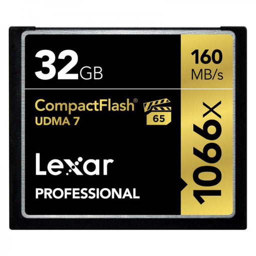 Lexar 32GB Professional 1066x 160MB/s CompactFlash Memory Card