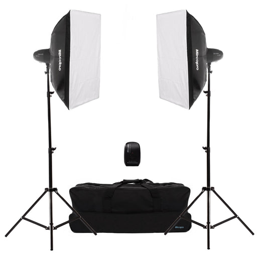 Mircopro MQ-300S Softbox Studio Flash Kit - Broadcast Lighting