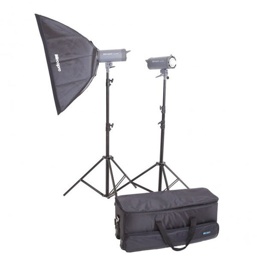 Mircopro MQ-500S Softbox Studio Flash Kit - Broadcast Lighting