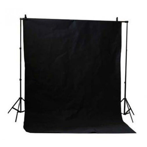 Muslin Black Backdrop Material 3x6m - Broadcast Lighting