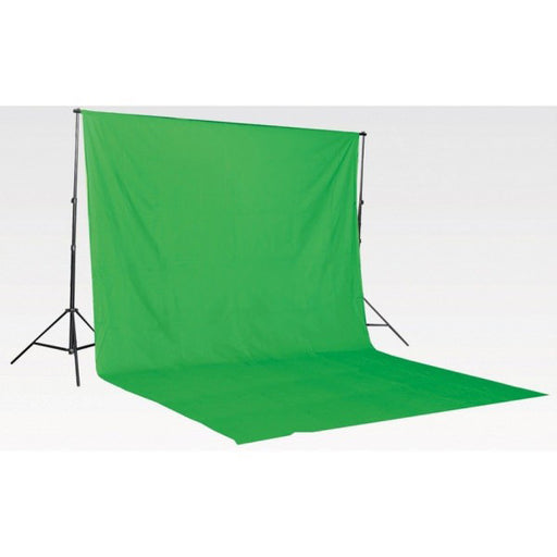 Muslin Green Backdrop Material 3x6m - Broadcast Lighting