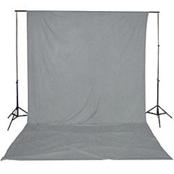 Muslin Grey Backdrop Material 3x6m - Broadcast Lighting