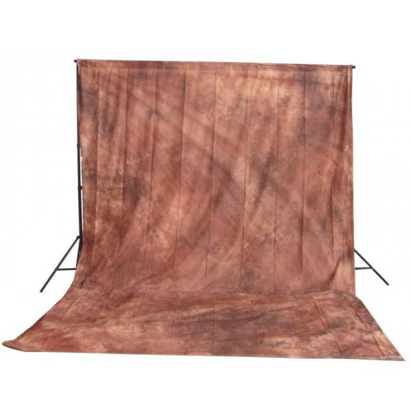 Muslin Multi Brown Backdrop Material 3x6m - Broadcast Lighting