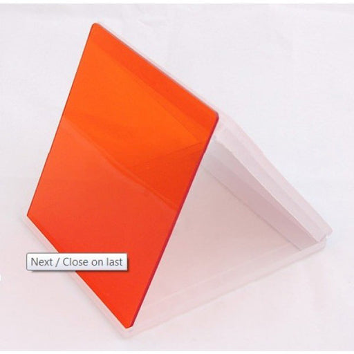 Square Filter - Orange Colour - Broadcast Lighting