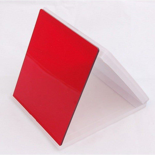 Square Filter - Red Colour - Broadcast Lighting