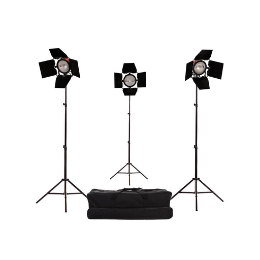 Red Head Lighting Kit with Dimmers and Carry Bag