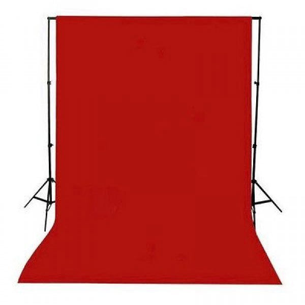 Red Muslin & Backdrop Support Stand Kit - Broadcast Lighting