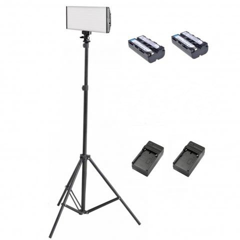 Tolifo PT-30 Bi-Color LED On Camera Light Kit A - Broadcast Lighting