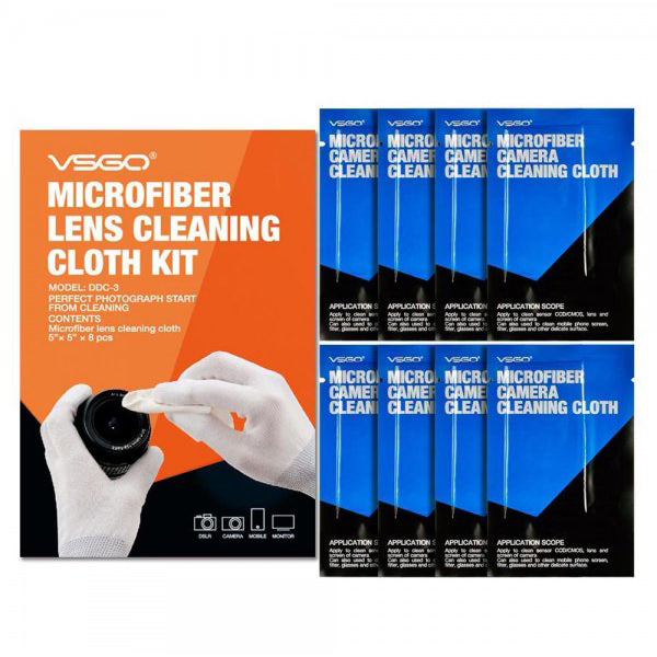 VSGO Microfiber Camera Lens Cleaning Cloth - Broadcast Lighting