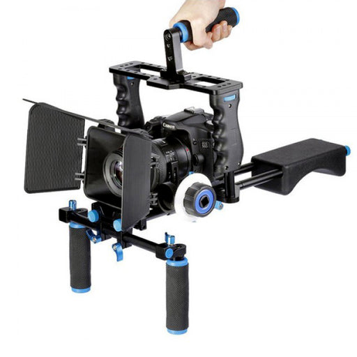 Yelangu Shoulder Rig with Camera Cage and Follow Focus Kit