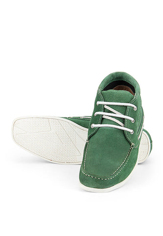 Turtle Green Suede Sneakers