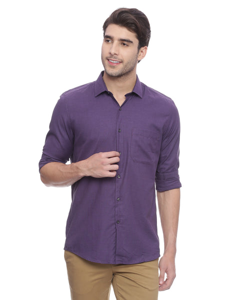 Turtle Solid Purple Formal Shirt
