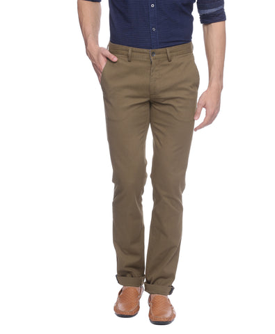 Turtle Brown Stretchable Chinos