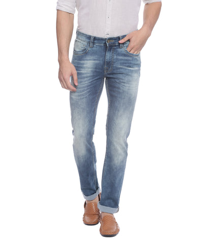 Turtle Blue Low Rise Denims With Stretch