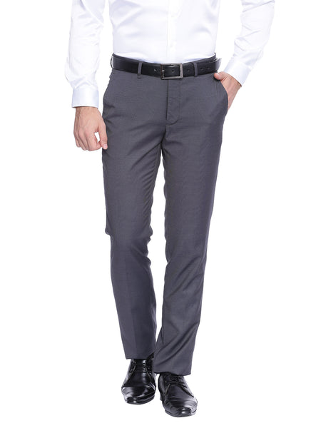 Turtle Grey Formal Trousers