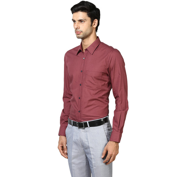 Maroon Fil-a-fil Formal Shirt