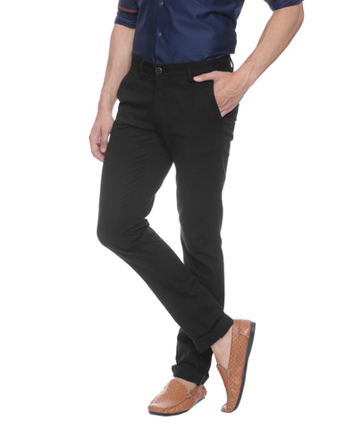 Turtle Black Stretchable Chinos