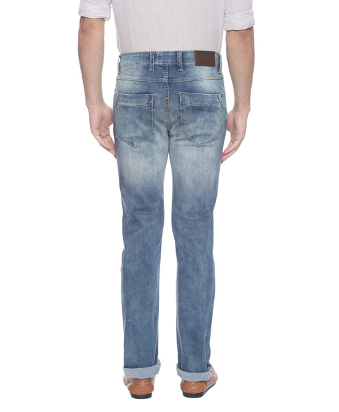 Blue Low Rise Denims With Super Stretch