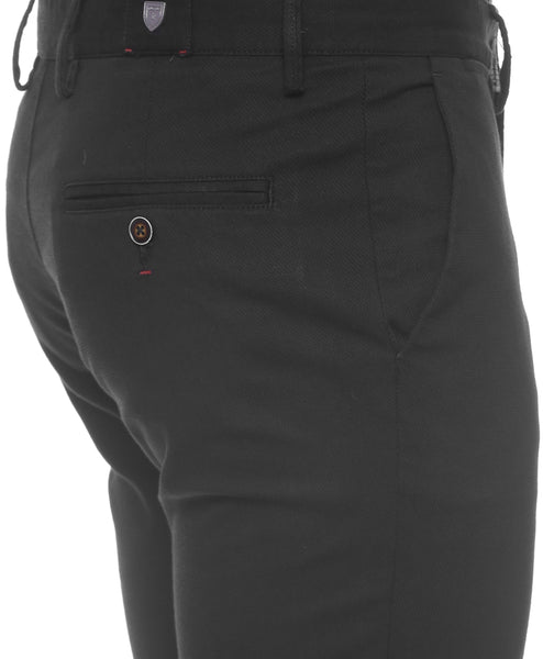 Black Structured Chinos With Stretch