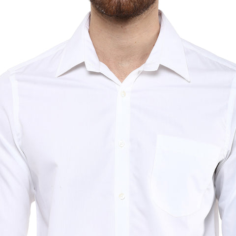 Turtle Men's White D'crease Regular Fit Limited Edition Formal Shirt