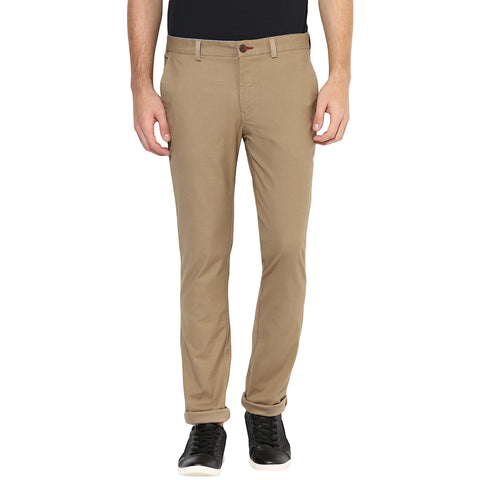 Beige Structured Ultra Chinos With Stretch