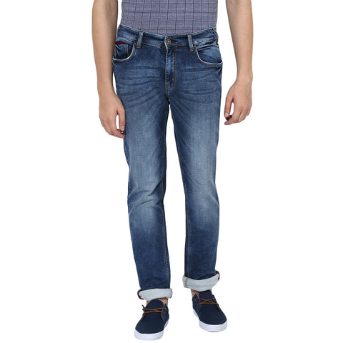 Blue Low Rise Slim Fit Jeans With Stretch