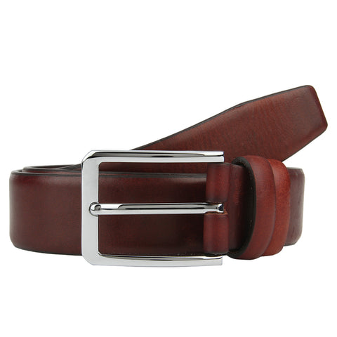 Turtle Brown Leather Formal Belt