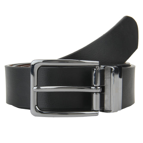 Black Designer Leather Formal Belt