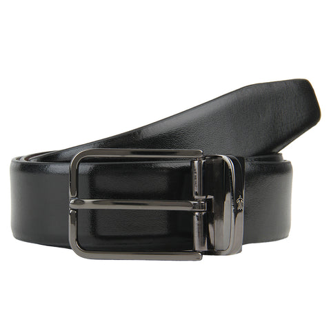 Turtle Black Leather Formal Belt