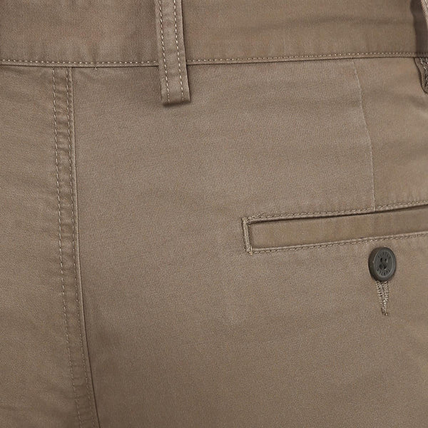 Brown Solid Casual Trouser