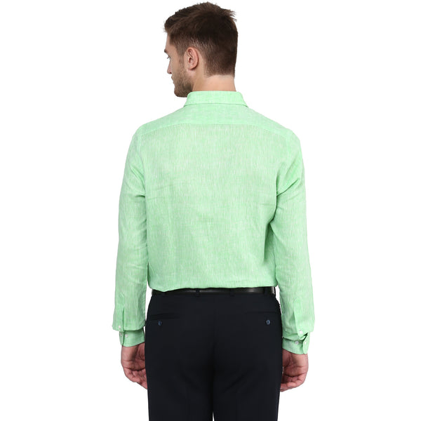 Green Pure Linen Limited Edition Formal Shirt