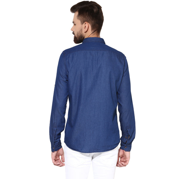 Indigo Blue Denim Casual Shirt