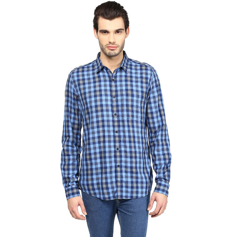 Blue Checks Casual Shirt