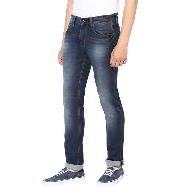 Navy Blue Low Rise Jeans