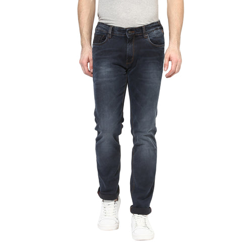Grey Low Rise Slim Fit Denims With Stretch