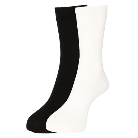 Turtle Black & White 2 Pack Pure Cotton Socks