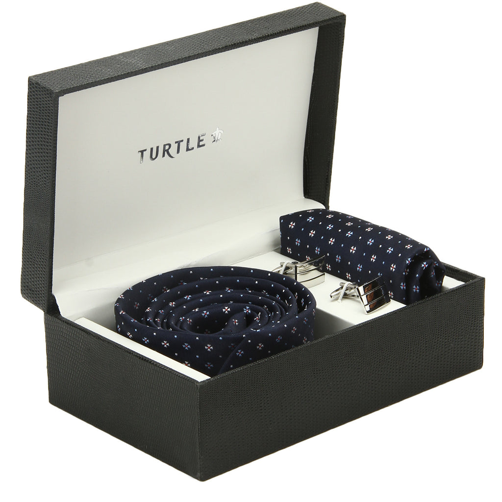 Tie Cufflink Pocket Square Gift Pack Turtle