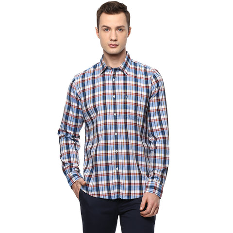 Turtle Casual Shirt With Red & Blue Madras Checks