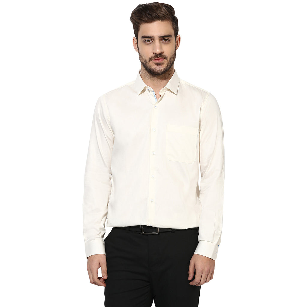 Turtle Cream Formal Shirt