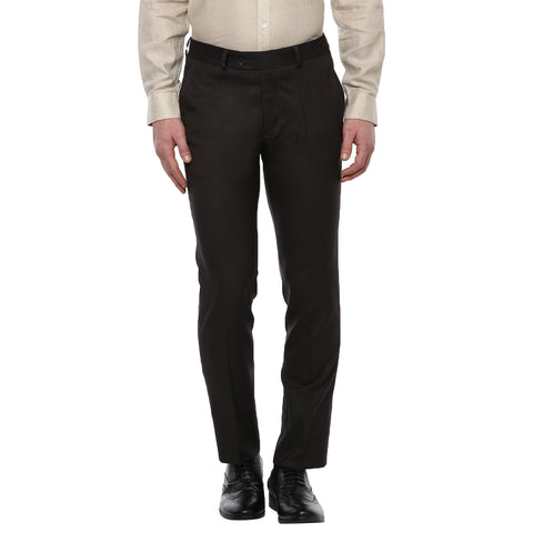 Black Solid Formal Trouser